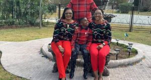 Lovely photo of Obiano and his family in America, post COVID-19