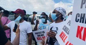 #EndSARS: Falz and Runtown lead protest in Lagos