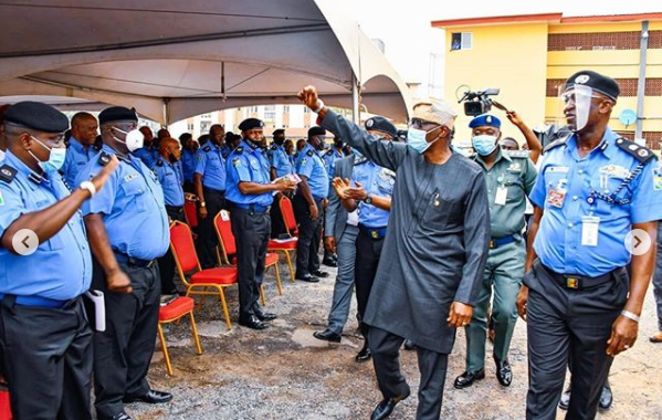 Sanwo-Olu awards scholarship to children of policemen who died #EndSars protest in Lagos