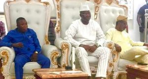 OPC leader Gani Adams meets Sunday Igboho (photos)