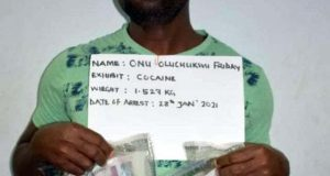 Two men arrested with 3kg cocaine at Lagos and Abuja airports