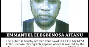 EFCC declares man wanted for Business Email Compromise and Internet-related Offences