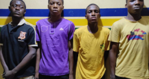 Four teenagers arrested for gang raping a 15-year-old girl in Lagos