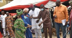 Oyo lawmaker empower widows with goats