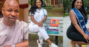 MC Oluomo's daughter becomes a registered nurse in US state of Georgia
