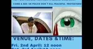 Nigerians in London ready to disgrace Buhari
