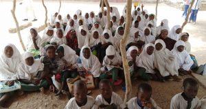 Photos of Katsina Primary School where pupils sit on bare floor