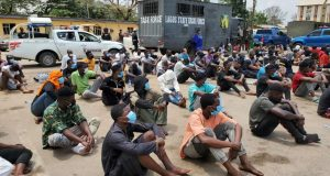 Police arrests and parades 113 COVID-19 violators in Lagos (photos)
