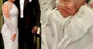 Pastor Chris Oyakhilome's daughter, Sharon and her husband, Phillip Frimpong welcome first child