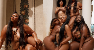 (Photos) Lizzo poses completely nude with her besties