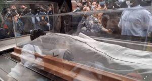 Photos from TB Joshua's lying in state