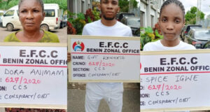 Court convicts yahoo boy, girlfriend and mum for defrauding an American lady of $902,935 in Asaba