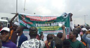 Yoruba Nation agitators defy heavy police presence, hold Lagos rally