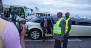 General Overseer of Deeper Life Bible Church, Pastor Kumuyi arrives for crusade in a limousine (photos)